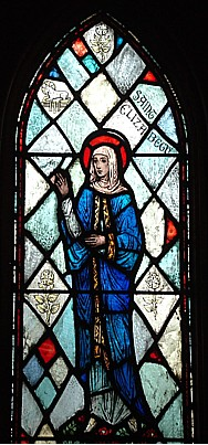 stained glass image of Saint Elizabeth